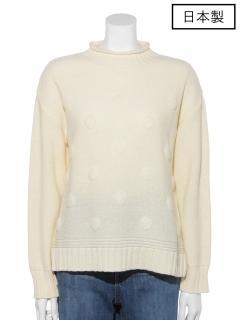 【日本製】ふくれドットセーター