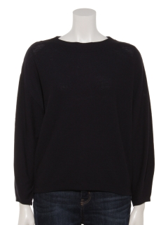 ガーター編みニットセーター