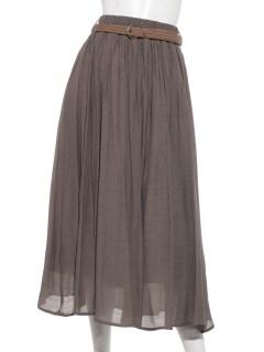 CHARM BERRY TKベルト付きギャザースカート