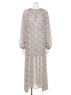プリントスキッパーロングドレス