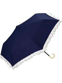 【折りたたみ傘】刺繍フリルmini