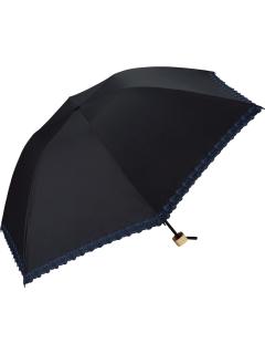 【折りたたみ傘】遮光バードケージフラワースカラップmini