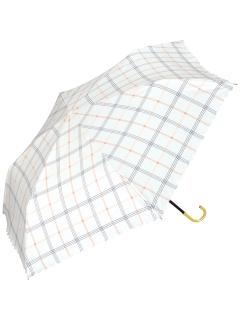 【折りたたみ傘】遮光ガーリーチェックmini