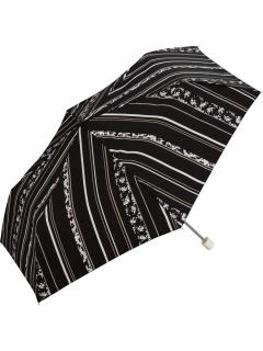 【折りたたみ傘】切り替えストライプmini