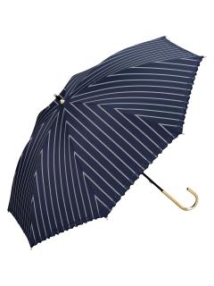 【長傘】遮光リムフラワーストライプ