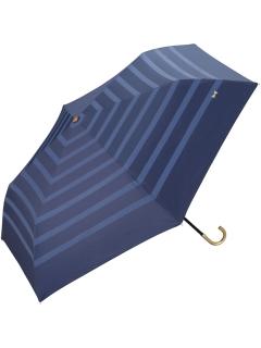 【折りたたみ傘】遮光リボンボーダーmini
