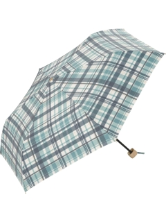 【折りたたみ傘】T/C遮光マドラスチェックmini