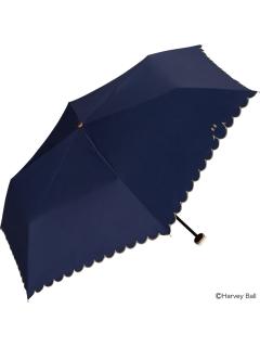 【折りたたみ傘】遮光スマイリースカラップmini
