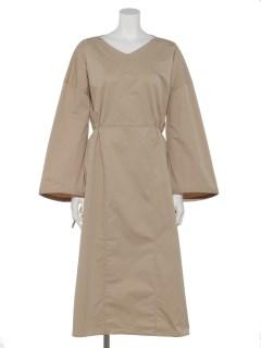 BACK-COLLAR BALOON DRESS