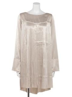 SHINE PLEATS TUNIC DRESS