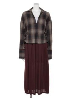 OMBRE CHECK DRESS