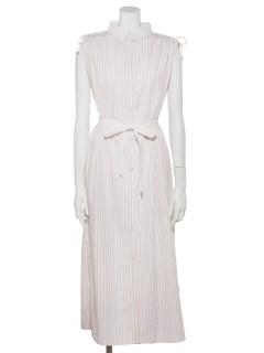 STRIPE CLERIC SHIRT DRESS