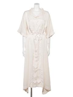 OPEN COLLAR DRESS