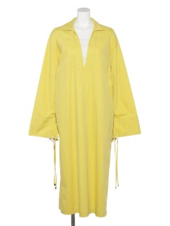 SLASH-NECK BOXY DRESS