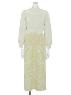 PAISLEY KNIT DRESS