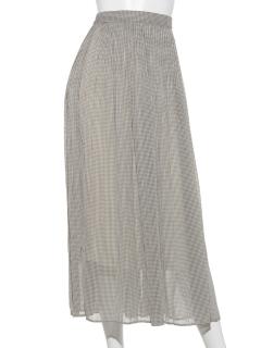 シアープリーツロングスカート