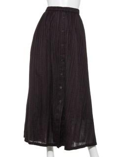 ドビーフロントボタンスカート