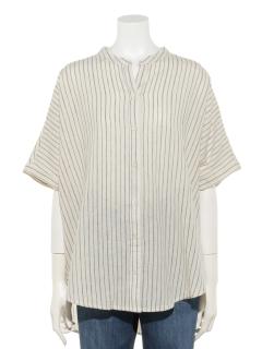 【CRAFT STANDARD BOUTIQUE】ドルマンバックタックスタンドカラーシャツ