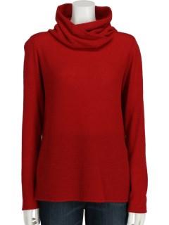 【chamois v】鹿の子編みオフカラーセーター