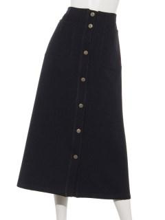 【chamois v】フロント釦Aラインスカート