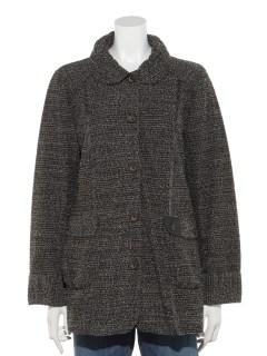 【chamois depo】ツイードジャケットコート