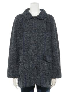 ツイードジャケットコート