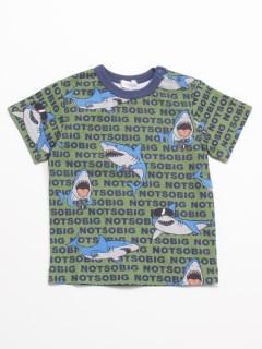 [ベビー]notsobig ゲームシャークプリント半袖Tシャツ