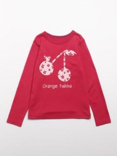 [ジュニアサイズ]Orange hakka フロントプリント長袖Tシャツ
