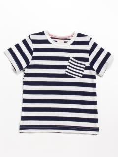 [ジュニアサイズ]Orangehakka ボーダーMIX半袖Tシャツ