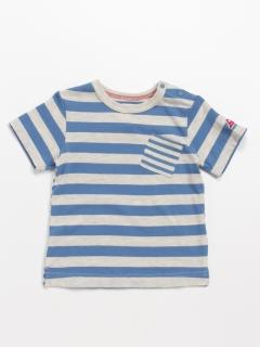 [ベビー]Orangehakka ボーダーMIX半袖Tシャツ