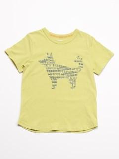 Orange hakka アニマルプリント半袖Tシャツ