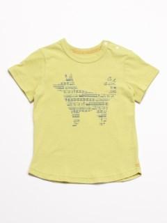 [ベビー]Orange hakka アニマルプリント半袖Tシャツ