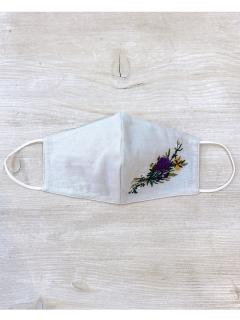 【洗えるマスク・接触冷感・消臭効果・抗菌効果】リトルブーケ刺しゅう立体マスク