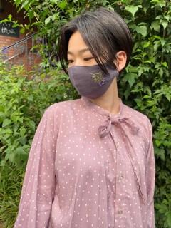 【洗えるマスク・接触冷感・消臭効果・抗菌効果】フラワーベット刺しゅう立体マスク