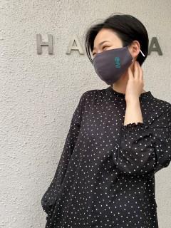【洗えるマスク・接触冷感・消臭効果・抗菌効果】フラワーダンス刺しゅう立体マスク