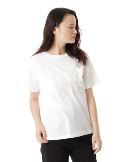 イニシャルフロッキープリントTシャツ