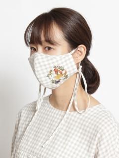 〈BOUQUET〉【洗えるマスク・抗菌効果・紐長さ調整可能】リトルフラワーハウス刺しゅうマスク