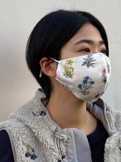 【洗えるマスク・接触冷感・消臭効果・抗菌効果・紐長さ調整可能】ボタニカルフラワーマスク