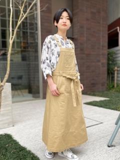 ツイル/ソフトデニム サロペットスカート