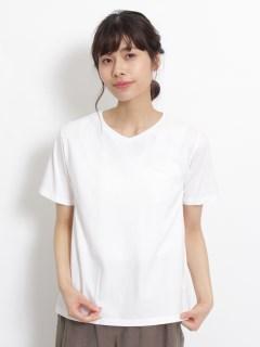 30/1ベーシック天竺ロゴ刺しゅうVネックTシャツ